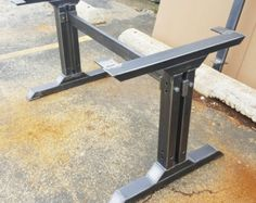 This listing is for set of 2 Bench, End Table, Side table Steel T Legs. - Made from 3 by 2 Steel tubing and 1 by 3 Steel tubing 14 gauge (.075) wall - Finish : Raw steel, Clear coat *** We can customize the height and the width. Send us your dimensions and we will give you a quote*** ***This shipping is for continental United States only, for other destination please ask for quote. Thanks