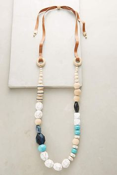 omg, LUV this. have been making asymmetrical bead necklace for a while now... Lavinia Bead Necklace - #anthropologie.com