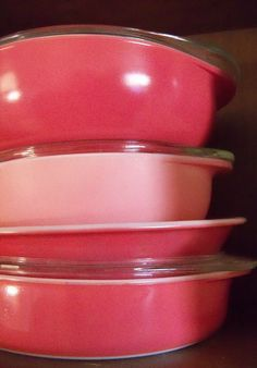 i love you pink pyrex