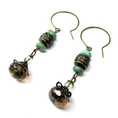 Items similar to Turquoise and Brass Filigree Dangle Earrings on Etsy Bird Jewelry, Jewelry Design, Brown Bird, Little Brown, Filigree, Dangle Earrings, Dangles, Brass, Turquoise