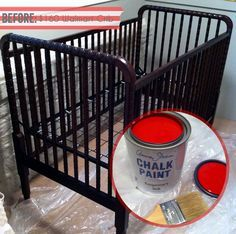 How To Paint A Baby Crib With Chalk Paint | Annie Sloan Chalk Paint, Dark  Wood And Annie Sloan