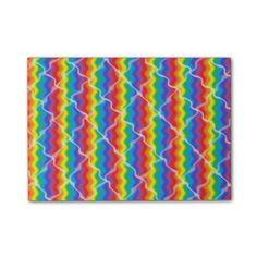 Cracked Rainbow Post-it® Notes