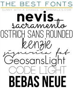Free Favorite Fonts