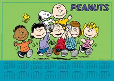 Peanuts 2014-15 16-Month Calendar Poster features an extra-large image of the whole Peanuts gang, along with handy monthly grids for September 2014 through December 2015.