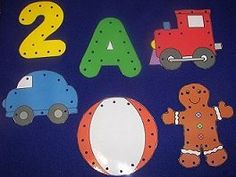 Lots of printables for pre-k and k.  Learning centers, lacing cards, shapes, letters & numbers, circle time dieas, calendar numbers, daily art project, etc. from childcareland.com