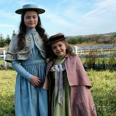 Dalila Bela as Diana Barry & Ryan Kiera Armstrong as Minnie May Barry. Anne Shirley, Diana Barry, Amybeth Mcnulty, Gilbert And Anne, Anne White, Gilbert Blythe, Anne With An E, Casting Pics, Enola Holmes