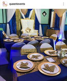 Royal Prince Babyshower Table Decor.