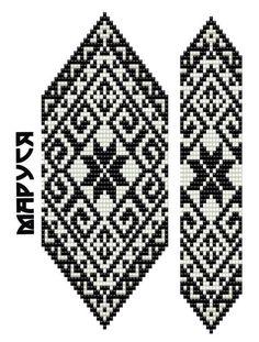 Bead Loom Patterns, Beaded Jewelry Patterns, Beading Patterns, Embroidery Patterns, Cross Stitch Designs, Cross Stitch Patterns, Seed Bead Flowers, Crochet Diagram, Bead Jewellery