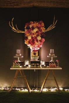 A 40th Birthday Party Full of REALLY CUTE IDEAS via Kara's Party Ideas | KarasPartyIdeas.com #AntlerParty #ElkParty #ShabbyChic #Partydeas #Supplies (16)