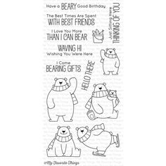 Christmas cuteness: My Favorite Things POLAR BEAR PALS Clear Stamps BB40