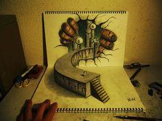 Incredible 3D Pencil Drawings by Nagai Hideyuki   Bored Panda