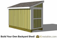 Lean to shed plans the easiest to follow shed plans for Boat storage shed plans
