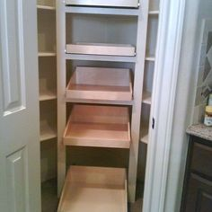 Pantry on pinterest corner pantry pantry and pull out shelves