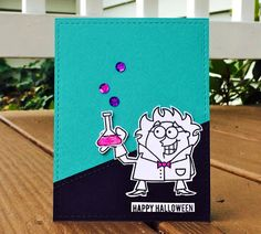 Lindsey @ Occasional Crafting: Oct '15 12 Kits of Occasions Cute Halloween, Halloween Cards, Mad Scientist Halloween, Welcome, Cardmaking, Crafting, Paper Crafts, Kit, Happy