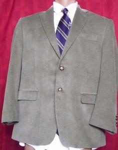 Lauren By Ralph Lauren Beige Corduroy Fully Lined 2 Button Blazer Size 40S #LaurenbyRalphLauren #TwoButton