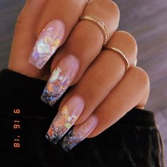 In seek out some nail designs and some ideas for your nails? Here's our list of must-try coffin acrylic nails for trendy women. Aycrlic Nails, Hair And Nails, Coffin Nails, Gradient Nails, Holographic Nails, Matte Nails, Stiletto Nails, Manicures, Toenails
