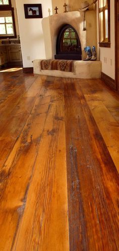 MILLED BARNWOOD....I would LOVE this kind of wood floor throughout my home.