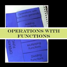 Functions sound complicated, but operations with functions is made easy with these guided notes and practice.  It's as easy as 2 + 2