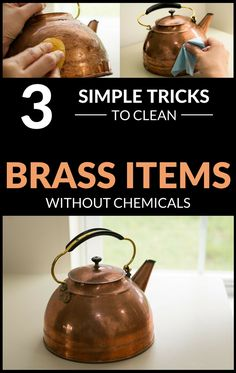 3 Simple Tricks To Clean Brass Items Without Chemicals Cleaning Recipes, Cleaning Hacks, Cleaning Supplies, How To Clean Copper, Me Clean, Green Cleaning, Cleaning Brass, Toilet Stains, Copper And Brass