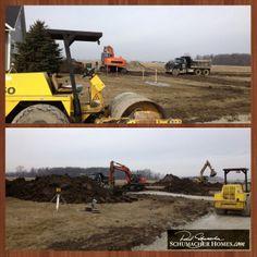 Construction on our NEW Bowling Green Ohio Design Studio is underway #BowlingGreen #onyourlot #awardwinningdesign #schumacherhomes Visit a Design Studio nearest you www.schumacherhomes.com/location.