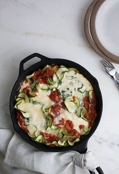 """Deconstructed Zucchini """"Manicotti"""" — made with spiralized zucchini"""