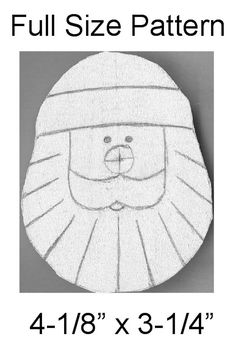 Free Santa Ornament Pattern at Little Shavers