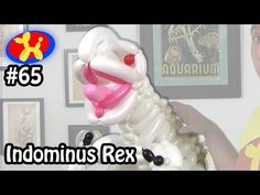 This week's challenge is Indominus Rex from Jurassic World. The Balloon Show where I try to make cool things . Balloon Show, The Balloon, Ballon Animals, Indominus Rex, Balloon Decorations, Fails, Sculptures, Make It Yourself, Youtube