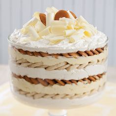 If you have all your dairy ingredients except the cream cheese cold, you won't have to chill this White Chocolate Banana Pudding before serving.