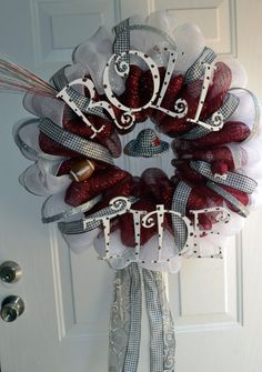 love this alabama wreath!