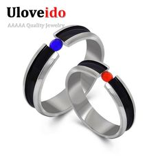Find More Rings Information about Couple Wedding Rings for Men Women Lovers Silver Sapphire Ring Female Ruby Anel Anillos De Pareja Jewelry Stainless Steel SA608,High Quality steel mini,China steel steam Suppliers, Cheap steel iphone from Ulovestore Jewelry on Aliexpress.com