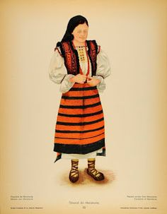 Romanian Peasant woman from Maramureș. Mountain Climbing Gear, Folk Costume, Costumes, Folk Embroidery, Embroidery Patterns, Medieval Clothing, San Jose, Anthropology, Traditional Outfits