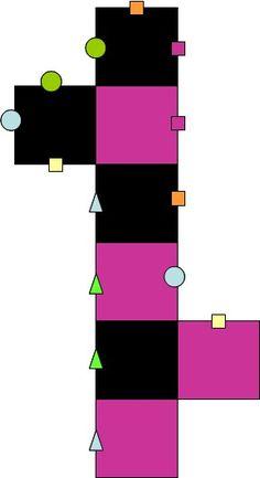 Strick - Ideen » Quadrat-Latschen für die Reste-Verwertung