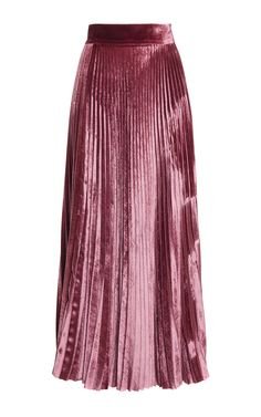 Velvet Pleated Skirt by LUISA BECCARIA for Preorder on Moda Operandi