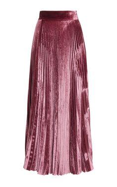 Velvet Pleated Skirt by LUISA BECCARIA for Preorder on Moda Operandi