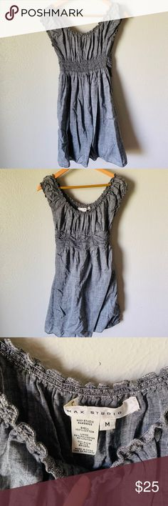 Max Studio Peasant-Style Linen Dress Excellent condition gray linen dress (lined) Cinched waist detail Off shoulder ruched sleeve Purchased from Nordstrom Max Studio Dresses Nordstrom, Gray, Studio, Detail, Shoulder, Sleeves, Closet, Things To Sell, Dresses