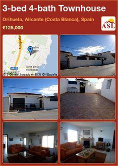3-bed 4-bath Townhouse in Orihuela, Alicante (Costa Blanca), Spain ►€125,000 #PropertyForSaleInSpain