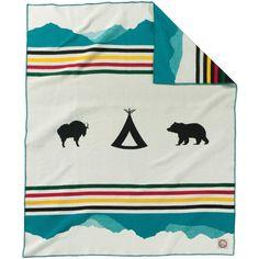 Pendleton Glacier National Park 100th Anniversary Blanket | THE WOODLANDS