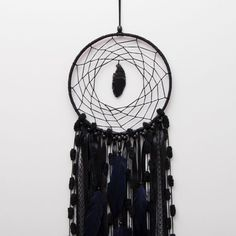 Large Black Dream Catcher Wall decor by MagicalSweetDreams on Etsy