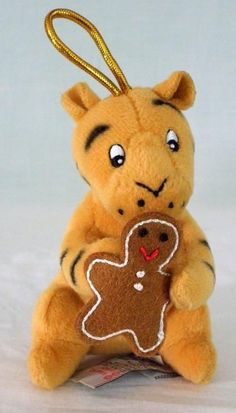 Disney Classic Pooh Tigger Holding Gingerbread Man Plush Ornament By Gund #Disney