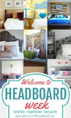 Headboard Week at Remodelaholic.com -- tutorials, inspiration, and a huge link party! #headboardweek