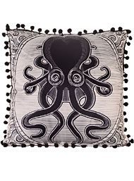 Killer Kraken Satin Pillow