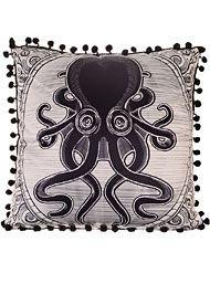 Back In Stock - Killer Kraken Satin Pillow by Sourpuss Home Decor