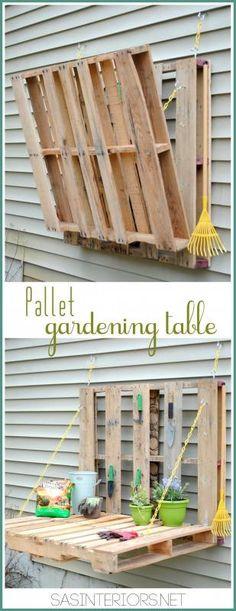 Vertical pallet gardening table in pallets 2 garden 2 diy  with vertical Table pallet