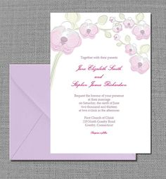Orchid Wedding Invitation