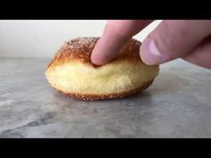 These naturally leavened bomboloni (doughnuts) are incredibly light, slightly crisp, just sweet enough, and delicious. Made only from simple ingredients and a sourdough starter. Sourdough Doughnut Recipe, Sourdough Recipes, Sourdough Bread, Baked Doughnuts, Donuts, Donut Recipes, Just Desserts, Baked Goods, Crisp