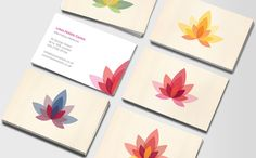 Holistic Lotus - business card design at Moo by Jovanna Mendes de Souza