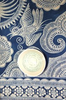 long strips of blue and white decorated fabric that were actually part of a large skirts Textile Patterns, Textiles, Chinese Fabric, Fabric Art, Indigo, Blue And White, Ceramics, Inspiration, Painting