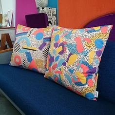 Some cushions made with #seasonofvictory fabric. Cushions made by the creative people at @ateliervladimirboson. If you don't already follow them, please do! #spoonflower #interior #interiordesign #surfacedesign #fabric #fabricdesign #graphic #design #atelierclairlavigne #ateliervladimirboson #cushion
