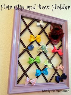 Hair Clip and Bow holder!  Easy Peasy gift!