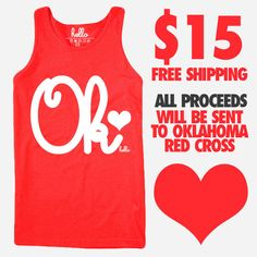 5ee54e1eaf8ece I just bought this NEW  Oklahoma (Adult) Benefit Tank Top (ALL PROCEEDS